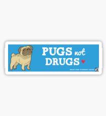 Pegatina Pugs no drogas