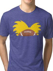 Football Head Tri-blend T-Shirt