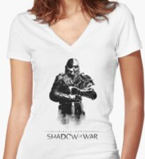 Shadow of War  Women's Fitted V-Neck T-Shirt