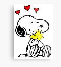Snoopy Hugging Metal Print