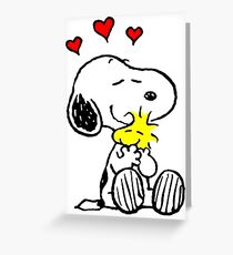 Snoopy Hugging Greeting Card