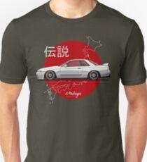 Nissan Skyline R32 GT-R (white) Unisex T-Shirt