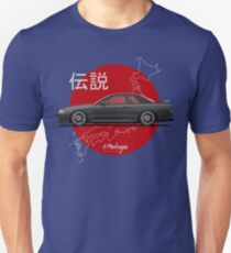 Nissan Skyline R32 GT-R (black) Unisex T-Shirt