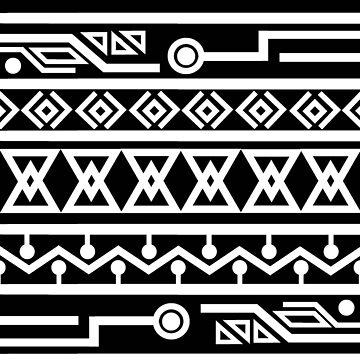 Afro Pattern 2 Black by jhaijhai