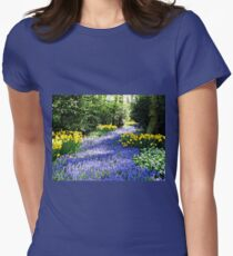 The Flower Lane - A Painterly View Womens Fitted T-Shirt