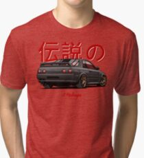 Nissan Skyline R32 GTR (black) Tri-blend T-Shirt