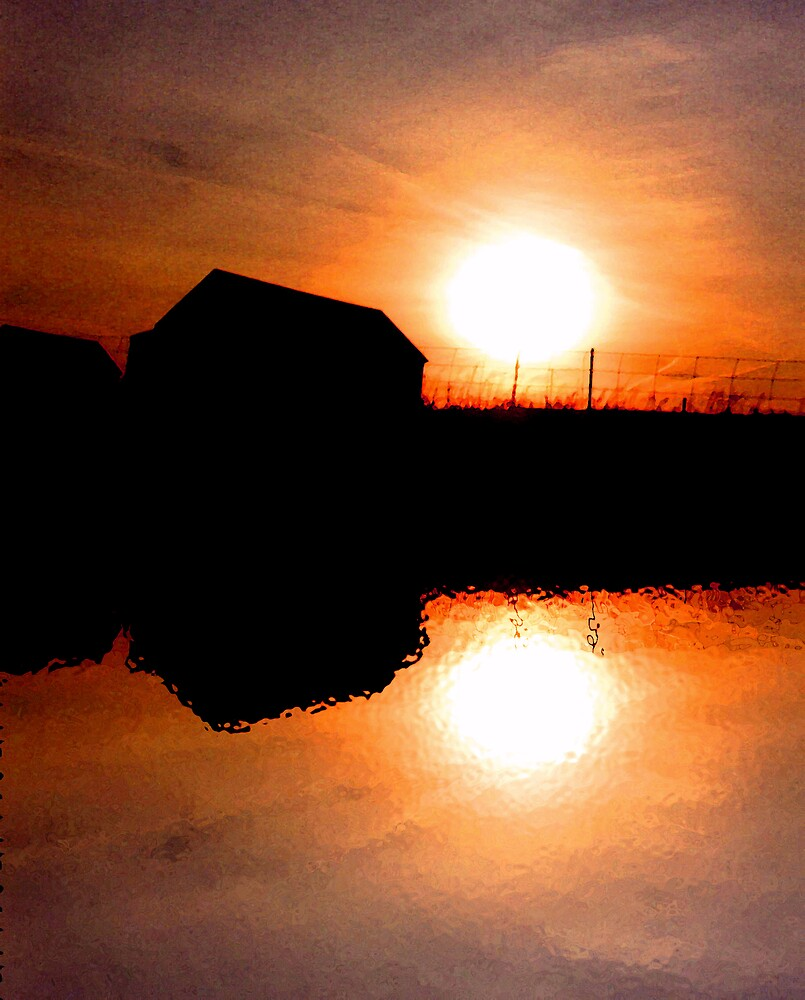 Sunset Barns by nikspix