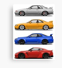 Skyline GTR. Generation Canvas Print