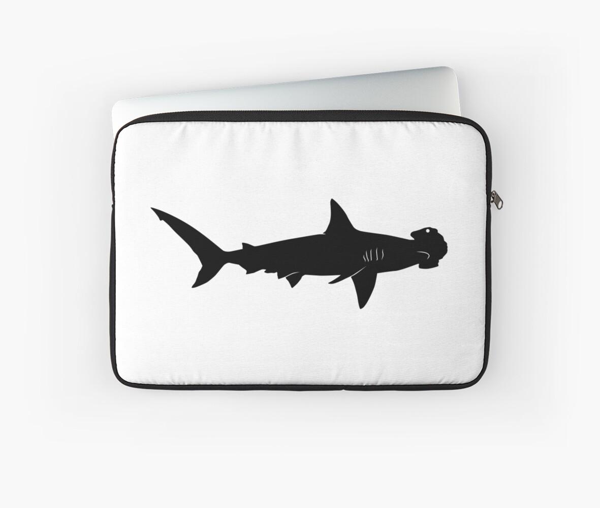hammerhead shark silhouette black by idrawsilhouettes on redbubble