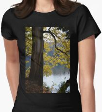 Backlit Autumn Tree Women's Fitted T-Shirt