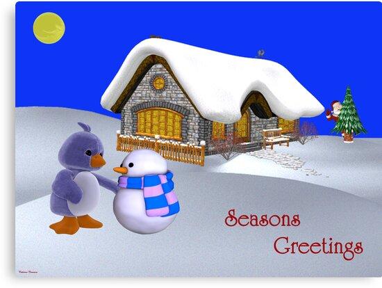 Seasons Greetings My Friend   by Catherine Crimmins