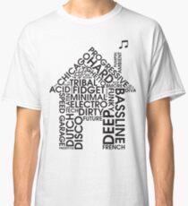 Camiseta clásica Géneros de música house
