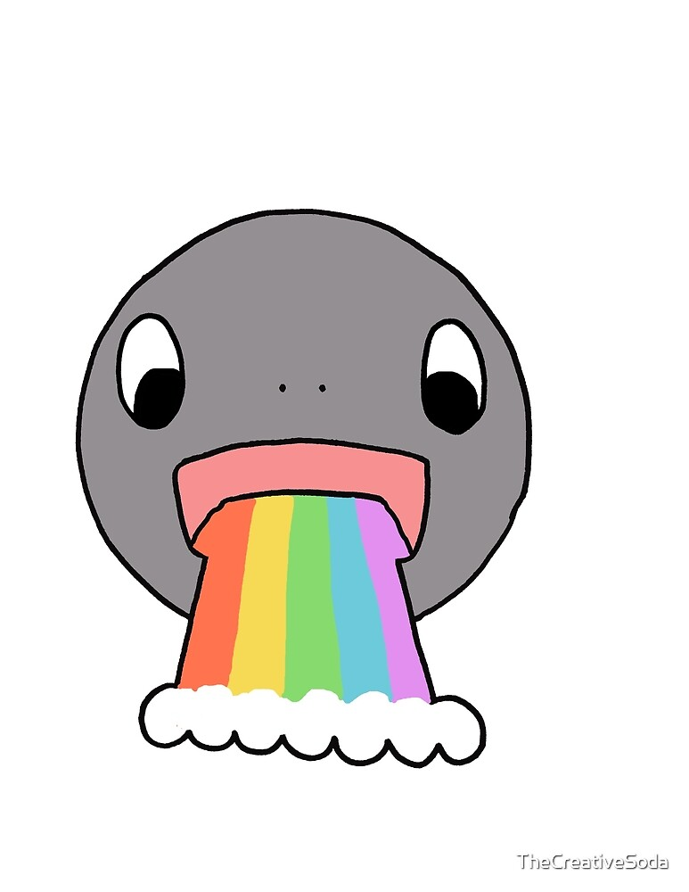 Barfing Rainbows by TheCreativeSoda