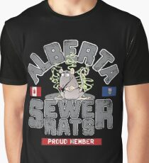 Official Alberta Sewer Rats Proud Member Graphic T-Shirt