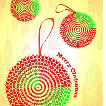 Abstract Christmas Ornaments greeting card by tdoes
