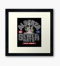 Official Alberta Sewer Rats Proud Member Framed Print