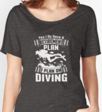 Therapy Scuba Diving Cranberry T-Shirt  Women's Relaxed Fit T-Shirt
