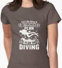 Therapy Scuba Diving Cranberry T-Shirt  Womens Fitted T-Shirt