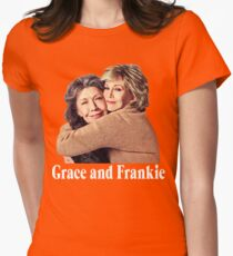 Grace and Frankie Hug 2 White Women's Fitted T-Shirt