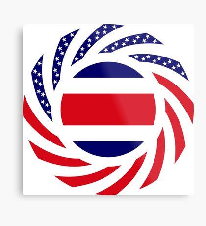 Costa Rican American Multinational Patriot Flag Series Metal Print