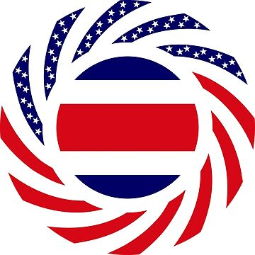 Costa Rican American Multinational Patriot Flag Series by carbonfibreme