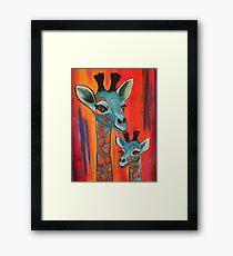 Giraffes for the kiddies Framed Print