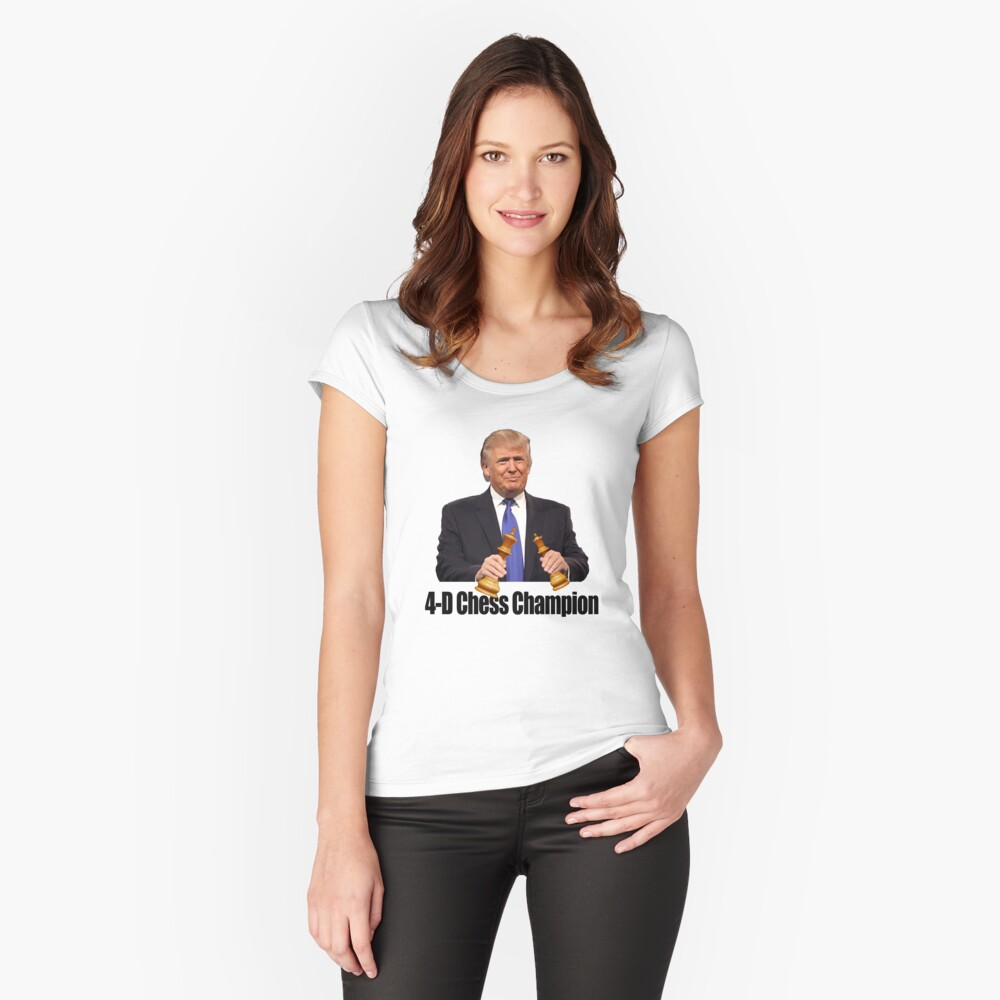 Trump - 4D Chess Champion Women's Fitted Scoop T-Shirt Front