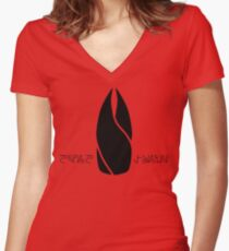 The Marker - Dead Space Women's Fitted V-Neck T-Shirt