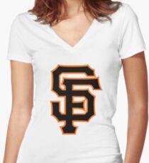 San Francisco Giants Women's Fitted V-Neck T-Shirt