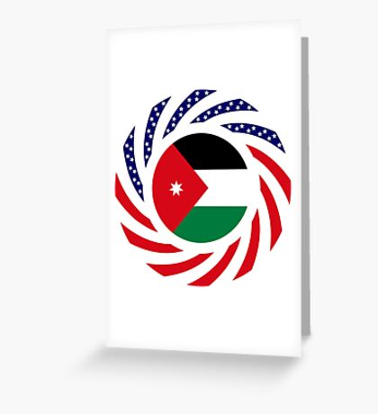 Jordani American Multinational Patriot Flag Series Greeting Card