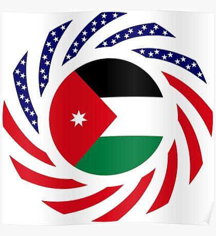 Jordani American Multinational Patriot Flag Series Poster