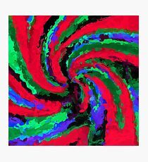psychedelic graffiti splash painting abstract in red green blue Photographic Print