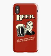 Beer! Helping people to get laid iPhone Case/Skin
