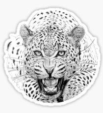 leopard growl Sticker