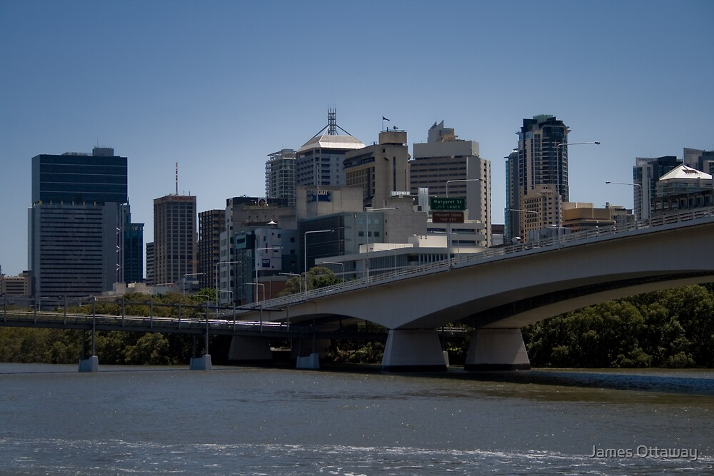 Brisbane over the River by James Ottaway