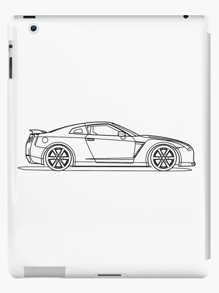 Nissan r35 gtr side blueprint ipad cases skins by kaanursu nissan r35 gtr side blueprint by kaanursu malvernweather Gallery