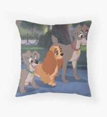 Lady and the tramp 2 Throw Pillow