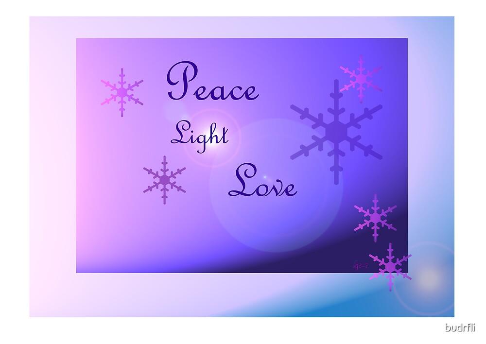 peace, love, light by budrfli