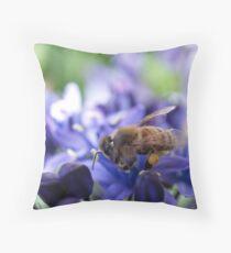 A Busy Little Bee Throw Pillow
