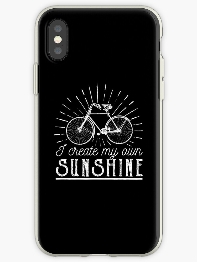 half off 9bc47 abe17 'I Create My Own Sunshine Cycling Quotes' iPhone Case by goodspy