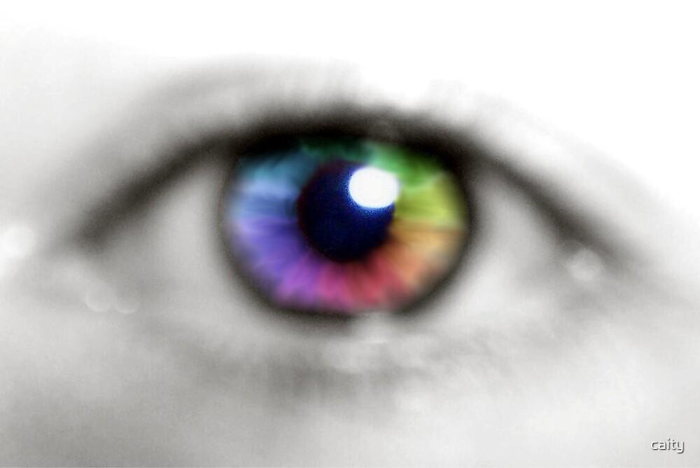 rainbow eye by caity