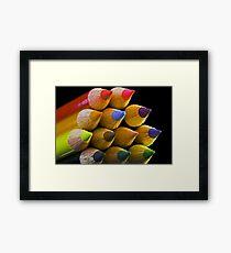 Coloured Tips Framed Print