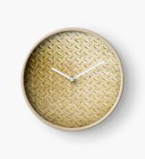 Gold Painted Metal Clock