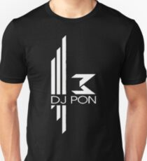DJ Pon-3: White Logo T-Shirt
