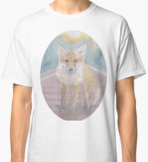 Fox on rail track Classic T-Shirt