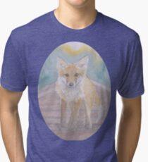 Fox on rail track Tri-blend T-Shirt