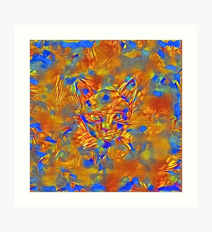 Another Ninja cat hiding #Art Art Print