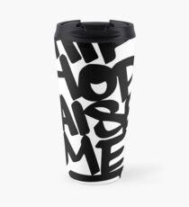 Hip Hop Raised Me Black Spray Paint Travel Mug