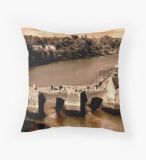 Pont de St. Goustan & Riviere d'Auray, Bretagne, France Throw Pillow