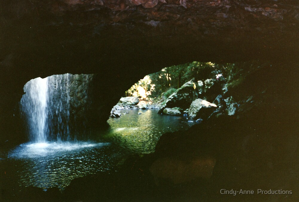 Under the Waterfall/ Natural Bridge by Cindy-Anne  Productions